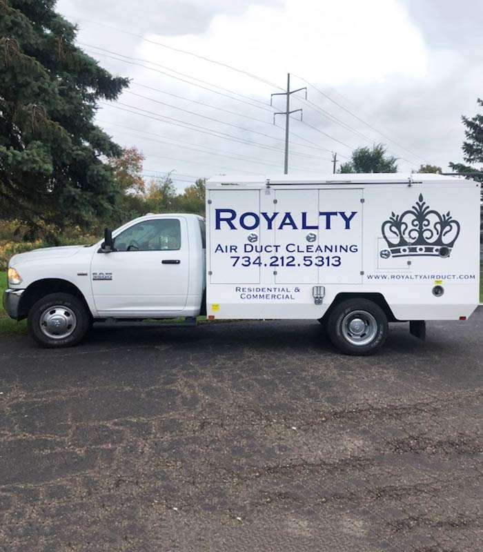 Royalty Air Duct Cleaning Service Truck